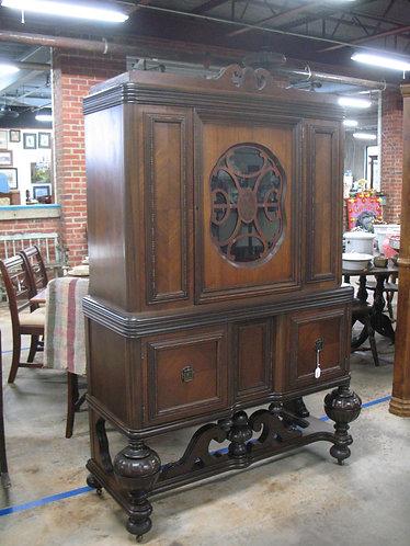 Antique Jacobean Tudor China Hutch