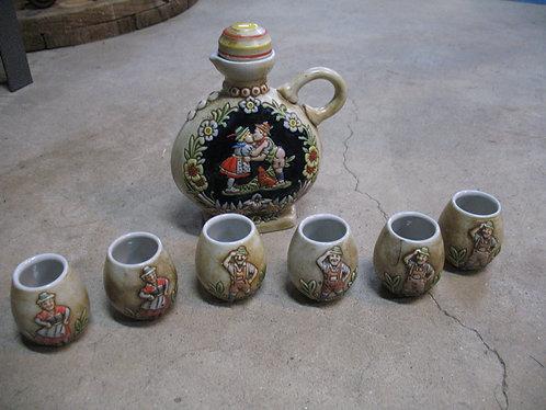 Vintage Ceramarte Brazil German Anheuser-Busch Decanter Set