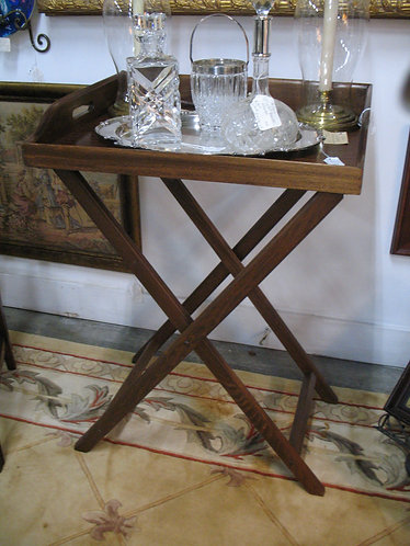 Vintage Mahogany Butler's/Bar Tray on Stand