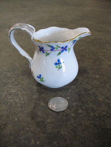 Vintage Herend Hungary Handpainted Blue Garland Creamer