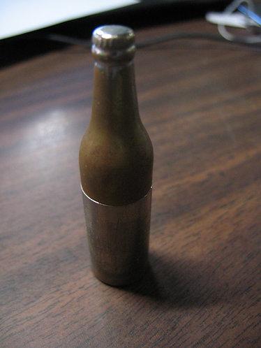 Vintage KEM Detroit, Two Tone Metal Bottle Lighter