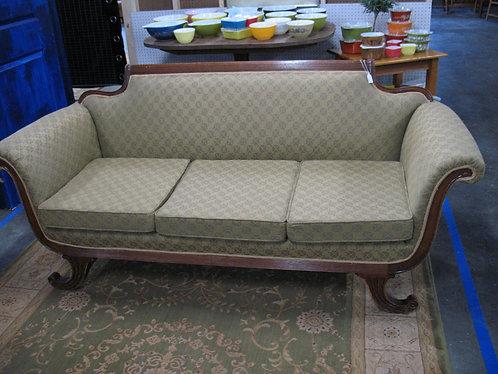 Vintage Duncan Phyfe Style Upholstered Sofa