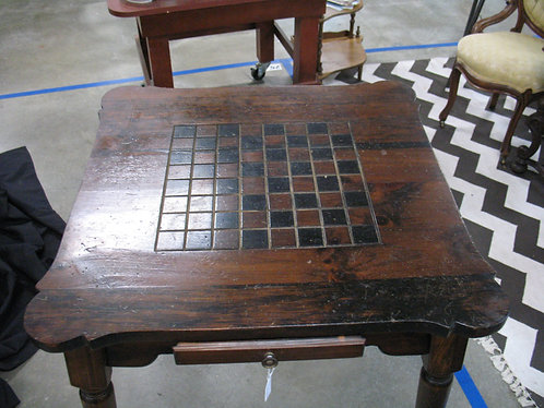 Vintage Solid Wood One Drawer Game Table