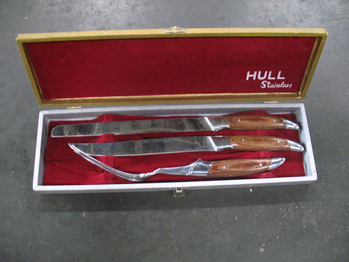 Vintage Hull Stainless Steel Carving Set with Original Box