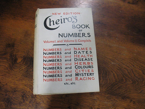 Cheiro's Autographed 1929 Book of Numbers Volume I and II