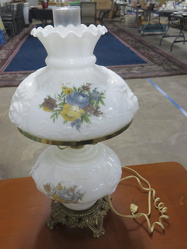 Vintage Gone with the Wind Handpainted Electric Lamp