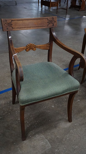 Wood Upholstered side chair, shell style, 1920s