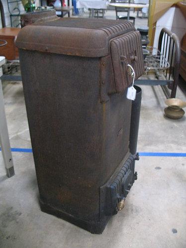 Vintage Atlanta Cast Iron Upright Coal Heater Stove