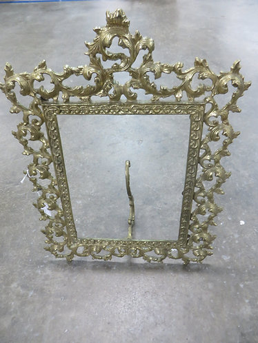 Antique Brass Victorian Picture Frame