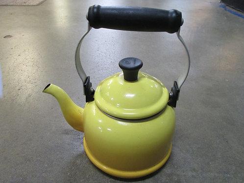 Vintage Le Creuset 1.25 Quart Yellow Ombre Teapot