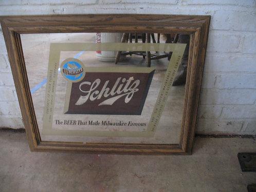 Vintage Schlitz Advertising Mirror