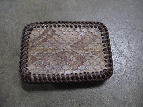 Vintage Handcrafted Rattlesnake Skin Belt Buckle