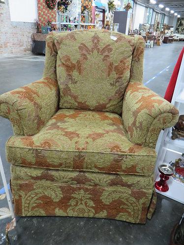 Vintage Tan and Burnt Orange Arm Chair