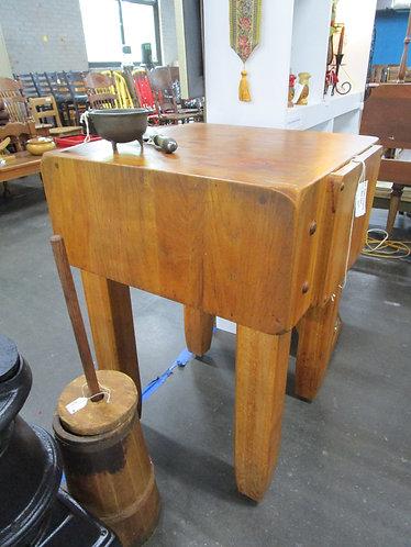 Vintage Butcher Block Chopping Block Table