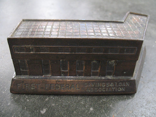 Vintage Greenville, SC First Federal Savings & Loan Coin Bank