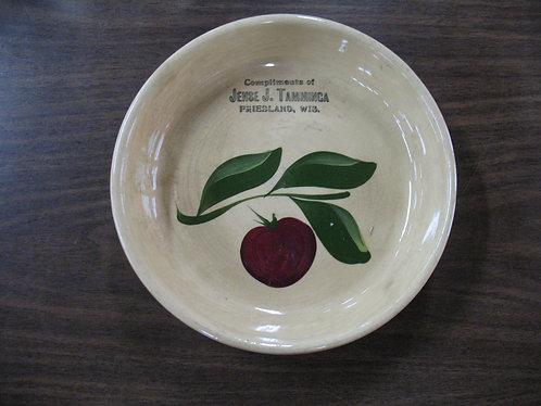 Vintage Watt Advertising Pie Plate Friesland, Wisconsin