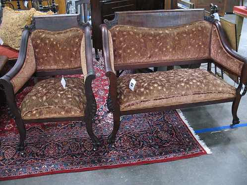 Antique (Late 19th Century) Settee and Arm Chair Set