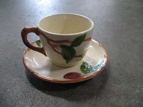Vintage Franciscan American Apple Teacup and Saucer Set