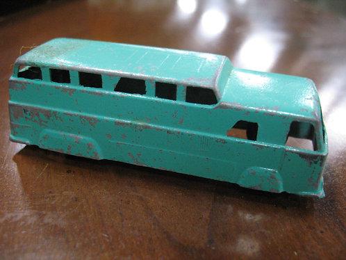 Vintage Midgetoy Turquoise Double Decker Bus