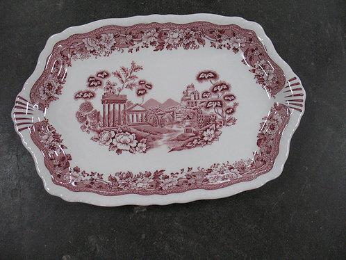 Vintage Warwick Tudor Rose Pink Serving Platter