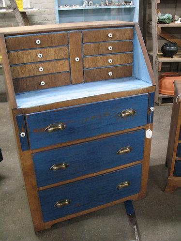 Vintage Chalk Painted/Distressed Secretary Dresser