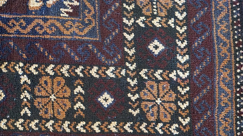 Balouch Oriental/Persian Rug, Vintage mid 1900s