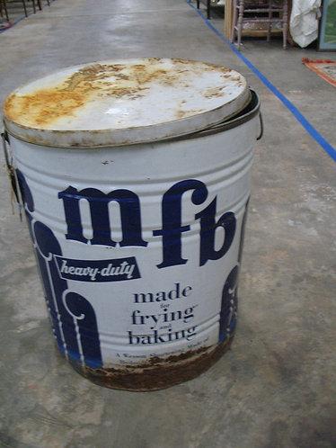 Vintage MFB Wesson Oil 110 LB Metal Drum
