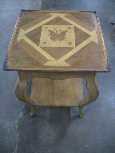 Vintage Wellesley Guild Handcrafted Butterfly Accent Table