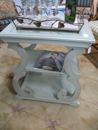French Style Painted Side End Table