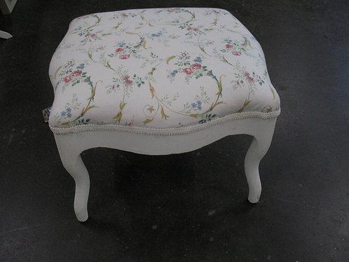 Vintage French Provincial Upholstered Footstool