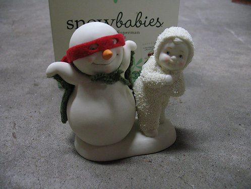 "2012 Dept. 56 Snowbabies ""You're My Superman"" Snowman Figurine"