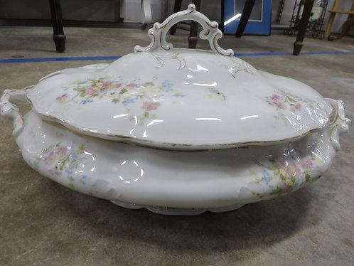 Vintage Austrian LS&S Carlsbad Porcelain Hand Decorated Soup Tureen