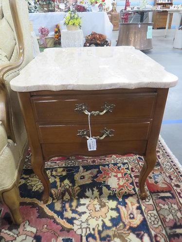 Vintage Mid Century Marble Top Side Table