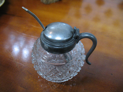Antique Salt Bowl/Mustard Jar
