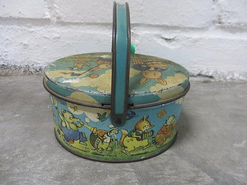 Vintage Metal Box Peter Rabbit on Parade