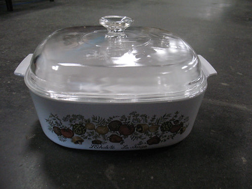 Vintage Corning Ware Spice of Life 4 Quart Casserole Dish with Lid