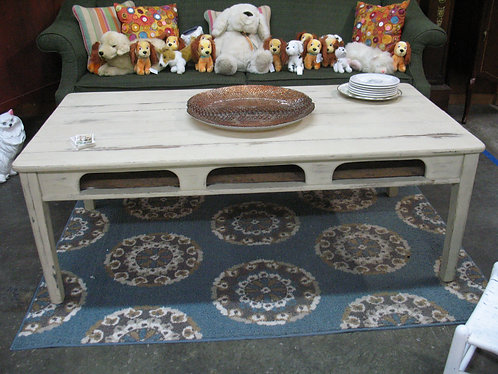 Vintage Cottage Style Student Desk Coffee Table