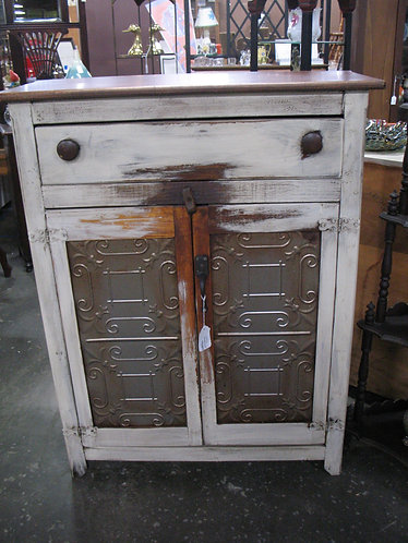 Farmhouse Rustic Two Door Tall Pie Safe Cabinet