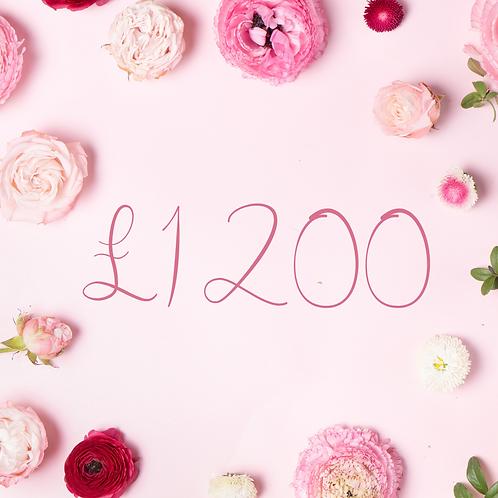 £1200 Gift Voucher