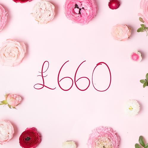 £660 Gift Voucher