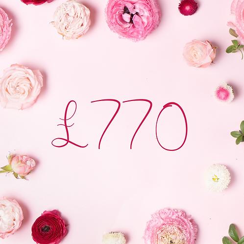 £770 Gift Voucher