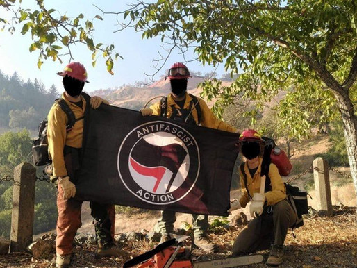 ANTIFA Dressed as Firefighters