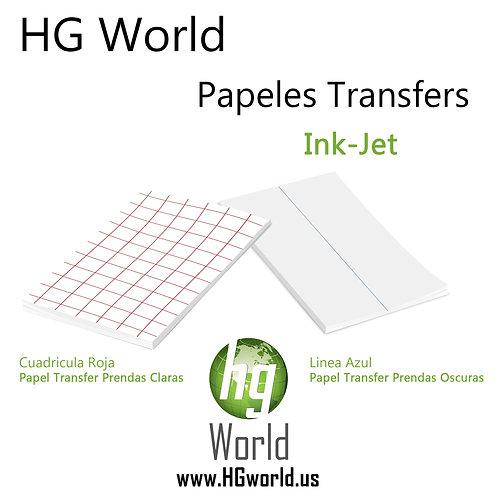 HG World Papel Transfer Muestras Tamaño Carta 100 Hojas