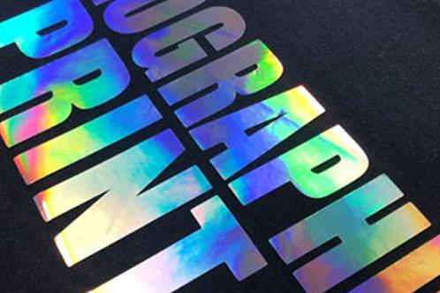 "Holographic Metallic Foil HTV 20"" 1Yd"