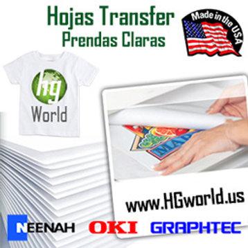 Neenha Papel Transfer Para Impresoras Laser 100 Hojas 50 Claros 50 Oscuros