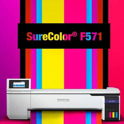 "EPSON SC-F571 Sublimation Printer 24"" Print Also NEON Colors"