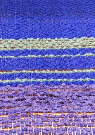 It starts with a royal blue and monofiliment