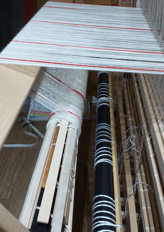 The warp for 'Digging Deep' is ready