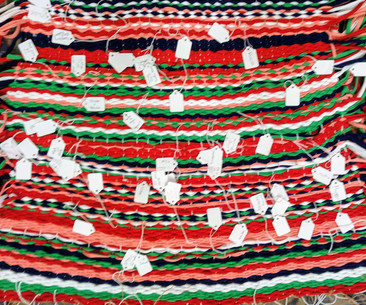 Community weave off the loom