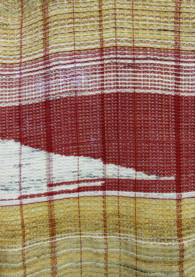 red warp and weft